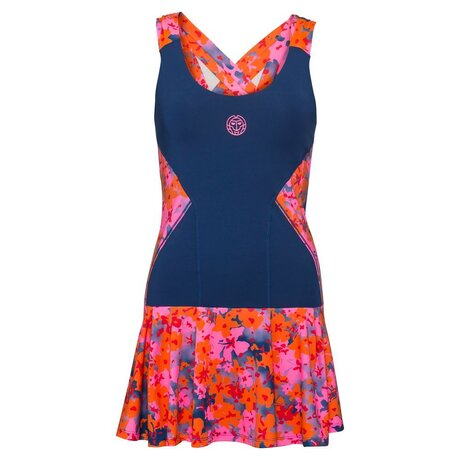 Alara Tech Dress (2 in 1) - dark blue pink flame