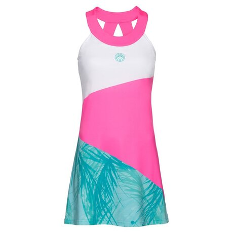 Kali Tech Dress (2 In 1) - pink white mint