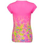 Bella 2.0 Tech V-Neck Tee - pink yellow turquoise
